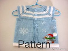 Pattern baby cardigan.Knitted baby cardiganknit baby by AnaSwet
