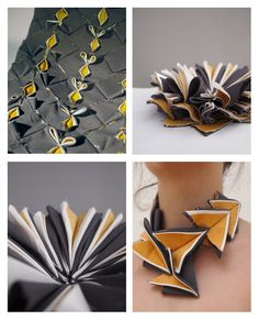 Just came across this gorgeous handmade necklace by Clare Chamberlain. Absolute gorgeous, so talented! Textile Manipulation, Fabric Manipulation Techniques, Textiles Techniques, Sewing Techniques, Art Textile, Textile Fabrics, Textile Design, Fabric Design, Fabric Decor