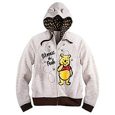 Winnie the Pooh Zip Fleece Hoodie for Women | Disney Store Pooh has a big smile because he's surrounded by bees on this toasty zip fleece hoodie, and he knows that bees mean hunny! The charming design features flocked screen art accents and 3D Pooh ears on the lined hood.