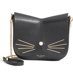 Main Image - Ted Baker London Kittii Cat Leather Crossbody Bag