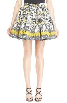 Alice + Olivia 'Tania' Pleated Pouf Skirt available at #Nordstrom