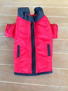 Fashion (and warmth) for Fido!  Red Insulated Winter Dog Coat Small MINT Dog Jacket #maxWear #dogjacket