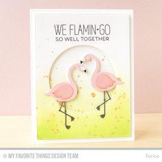 Tickled Pink, Blueprints 24 Die-namics, Cross-Stitch Circle STAX Die-namics, Flamingos Die-namics - Torico  #mftstamps