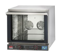 E-Heißluftofen, AIRPOWER-04-435 M einfache Bedienung, energiesparend, temperierte Glastür mit niedrigem Emmissionsgrad nach innen, Sicherheitsgriff, Füße rutschfest, Innenbeleuchtung, mechanische Steuerung, doppelter Ventilator, inkl. 4 verchromte Roste Kapazität: 4 Roste je 43,5 x 35 cm, geeignete Backbleche: ArtNr. 5950004 Schienenabstand: 8,4 cm Anschlussw.: 230 V / 3,35 kW Abm. Backraum: 46,4 x 42 x 37 cm (BxTxH) Abm.: 58,9 x 66 x 58 cm (BxTxH) Toaster, Oven, Kitchen Appliances, Interior Lighting, Save Energy, Fan, Sheet Metal, Diy Kitchen Appliances, Home Appliances