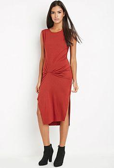 Contemporary Gathered Midi Dress | Forever 21 Contemporary - 2000179653
