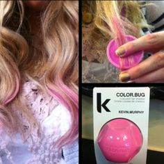 Color Bug- easy way to color the tips of your hair and then it just washes out at the end of the day! Comes in different colors!