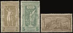 1896 Olympic Games, complete set of 12 values, m. (Hellas 109/120).