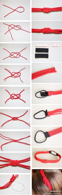 Knot headband. I bet this would make a great doll craft.