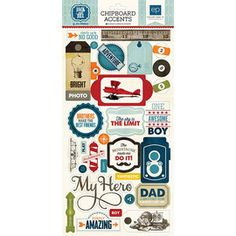 Product image for Jack & Jill Boy  6x13 Chipboard