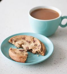 """""""Saturday afternoon treat 🍪"""" cookie and coffee"""