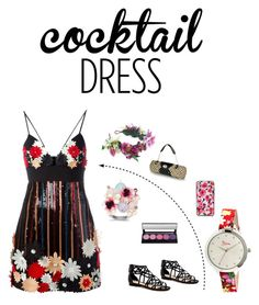 """""""Cocktail dress from my wardrob"""" by goldia ❤ liked on Polyvore featuring Emanuel Ungaro, Boum, Rock 'N Rose, Kate Spade and cocktaildress"""