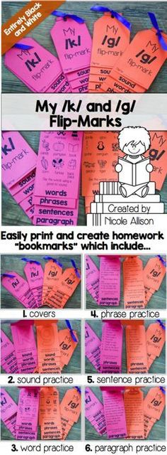 Perfect as bookmarks for at-home practice!