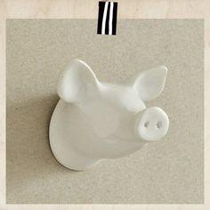 wieszak świnka biała