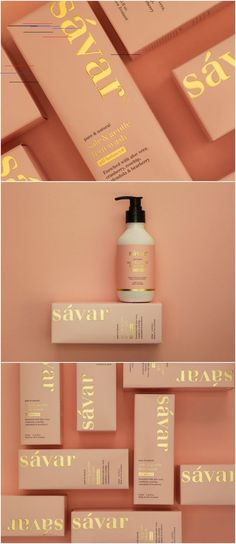 Elevating a Female Wash from a Basic Pharma Product to High-End Lifestyle Design Agency: Redfire Brand / Project Name: Savar Fem Wash Location: New Zealand Category: Health Beauty Cosmetics World Brand & Packaging Design Society 460070918180054836 Design Set, Design Logo, Label Design, Design Agency, Brand Design, Graphic Design Branding, Design Model, Skincare Packaging, Cosmetic Packaging