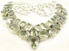 200 Carat Green Amethyst Bib Necklace (Green Amethyst) at Eliot Dennis Jewelry New and Estate