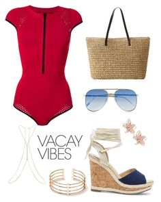 """""""Untitled #10"""" by beacraven ❤ liked on Polyvore featuring Duskii, Sole Society, Le Specs, Miss Selfridge, NAKAMOL, BeachPlease and vacayoutfit"""
