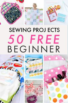 50  Beginner Sewing Projects To Make Now! - You can sew these easy sewing projects in no time.