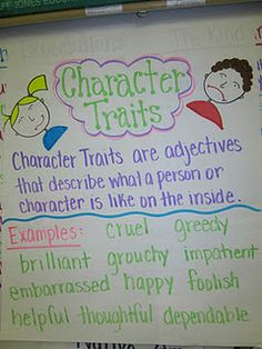 """This chart can help eliminate """"tired"""" words ~ Character Traits"""