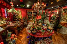 Johann Wanner's Christmas Store in Basel, Switzerland - year round Christmas store and cafe