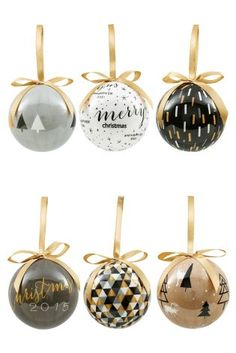 Buy Set Of 6 Decoupage Baubles online today at Next: United States of America