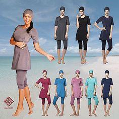 AlHamra Capri Modest Burkini Swimwear Swimsuit Burqini Muslim Islamic Sportwear