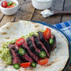 Flank Steak Burrito with Guacamole and Salsa | Food & Wine