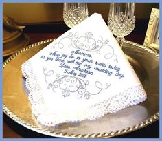 Mother of The Bride Handkerchief Grandmother of by MisterandMrs, $19.95