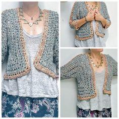 Chaqueta Osaka – Oh Mami Crochet - Diy Crafts Poncho Au Crochet, Crochet Cozy, Crochet Jacket, Crochet Round, Crochet Mandala Pattern, Crochet Circles, Crochet Stitches, Crochet Patterns, Diy Crafts Crochet