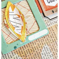 Scrapbook inspiration/paper art idea. Stitching on a page/stitching elements of art.
