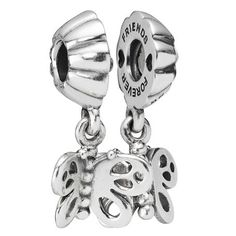 """Pandora Dangle Butterfly Charm with """"friends forever"""" engraving. Can be divided into two separate charms. Got this one for my best friend Tamara"""