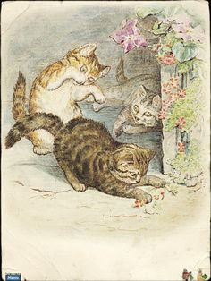 """From """"The Tale of Tom Kitten"""" a children's book written and illustrated by Beatrix Potter, published by Frederick Warne & Co. in September 1907"""