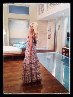 "Katerina Kainourgiou in ""Eclectic Soiree"" maxi dress and accessories  @ Panos Kallitsis Salon"