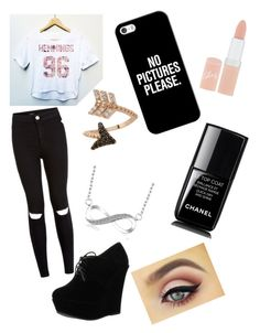 """Meeting Luke Hemmings."" by kitkat32301 on Polyvore featuring Forever Link, Bee Goddess, Casetify, Rimmel and Chanel"