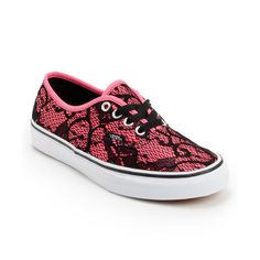 Vans Girls Authentic Neon Pink  Lace Shoe at Zumiez : PDP
