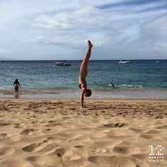 Beach playtime  Happy Saturday! handstand play 12minuteathlete