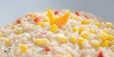 #Pastasotto de #maíz, #pimentón y #naranja.