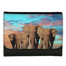 Elephant_Opal_Sunrise,_Medium_Black_Leather_Wallet Women's Wallets