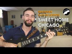 """Beginner Blues Guitar Lesson - """"Sweet Home Chicago"""" - Eric Clapton Licks and Tricks - YouTube"""
