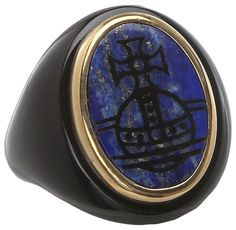 Vivienne Westwood - Diana Ring (Gold/Black/Lapis) - Jewelry