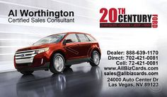 2014 Ford Edge Business Card ID# 21135