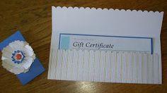 Gift Card Holder Open www.crazystampinglady.blogspot.com Maureen Rauchfuss