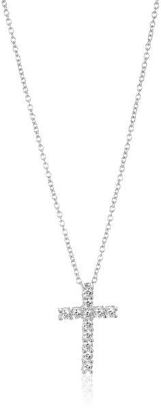 Black /& White Cz .925 Sterling Silver Pendant 18x12.5mm
