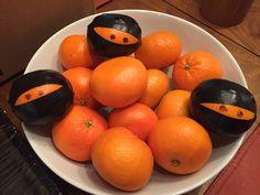 Ninja Birthday.  Ninja oranges.