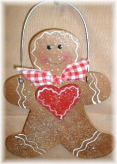 Lil Gingerbread Man Christmas Wood by mycountrycottagesign on Etsy, $5.95