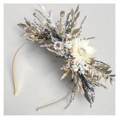 Flower Hair Pieces, Flowers In Hair, Dried Flowers, Wedding Flowers, Flower Crown Bride, Flower Crowns, Floral Hair, Vines, Wedding Inspiration