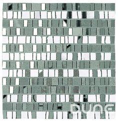 """HELIOPOLIS 30x30,5 cm./ 11,81""""x12,01""""  Mosaico estilo artesanal con una mezcla de teselas irregulares en piedra gris y blanca y espejo plata. #duneceramica #diseño #calidad #diferenciacion #creatividad #innovacion  #tendencia #moda #decoracion #design #quality #differentiation #creativity #innovation #trend #fashion #decoration"""