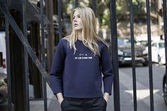 LOOKAST CHAPTER #5 - 2014 fall winter in New York_ Fxxk  Navy neoprene t shirt