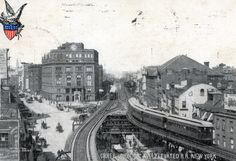 German New York, Lower East Side, Manhattan, Kleindeutschland</head>  Private Mailing Card, posted 1904, Cooper Union, 3rd Ave Elevated R. R., New York