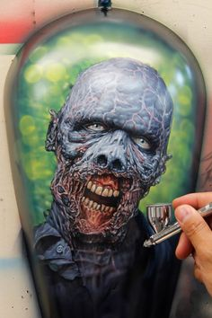Artwork by Jonathan Pantaleon Artistry, head instructor, MURALS ON STEEL class at the AIRBRUSH GETAWAY WORKSHOP PROGRAM.