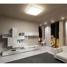 Lámpara de techo plafón Caritaya 80x80. Es un plafón de techo ideal para el salón o el dormitorio.